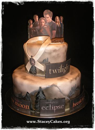 Surprising Twilight Cake With Images Twilight Cake Twilight Party Cake Funny Birthday Cards Online Overcheapnameinfo