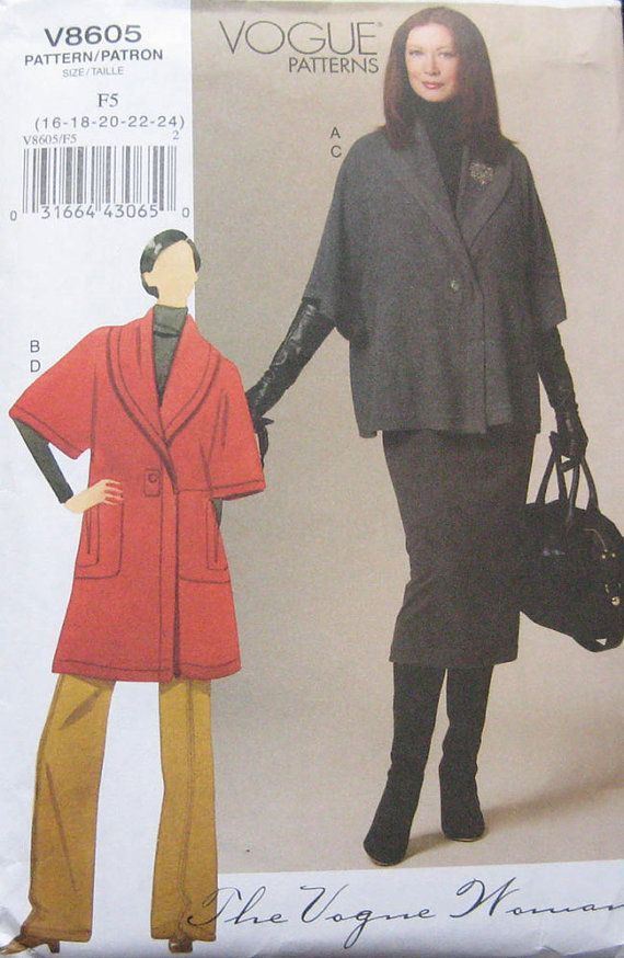 Vogue Jacket Skirt Pants Pattern V8605 by TheHowlingHag on Etsy