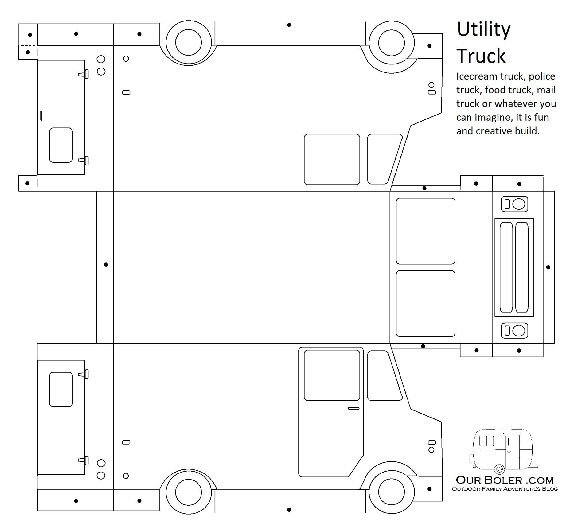Utility Work Truck Great For Ice Cream Food Police Or