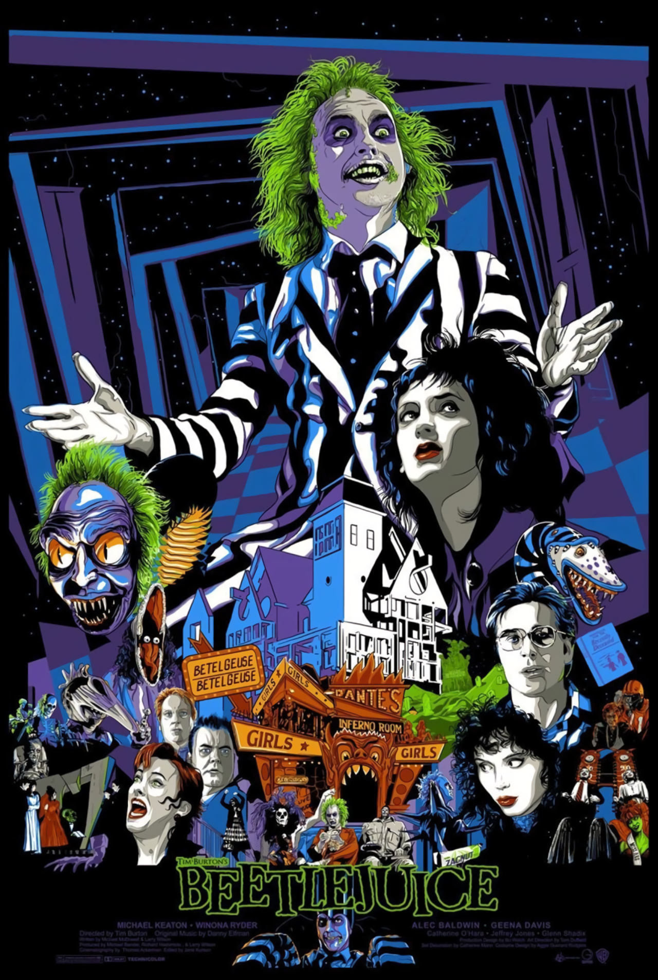 Beetlejuice 1988 Hd Wallpaper From Gallsource Com Beetlejuice Movie Movie Poster Art Movie Art