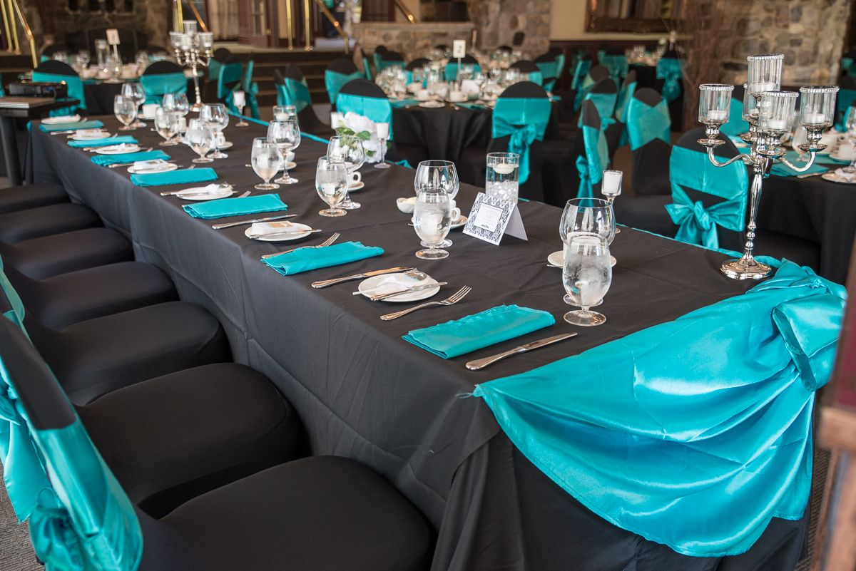 Chocolate And Teal Wedding Reception: Jennifer & Cody Are Married