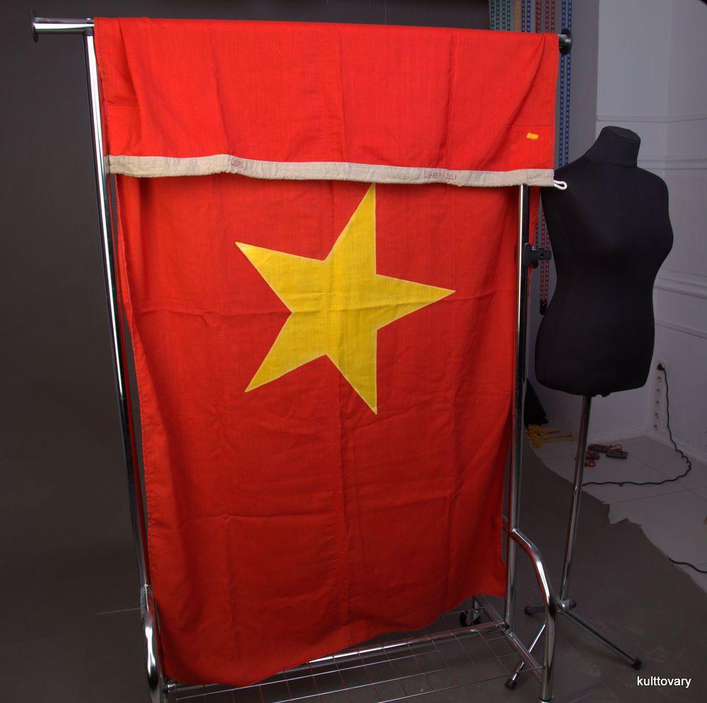 Big Official Vietnam Flag Vintage Ussr Nautical Navy Ship National Star Unbranded Vietnam Flag Navy Ships Vietnam
