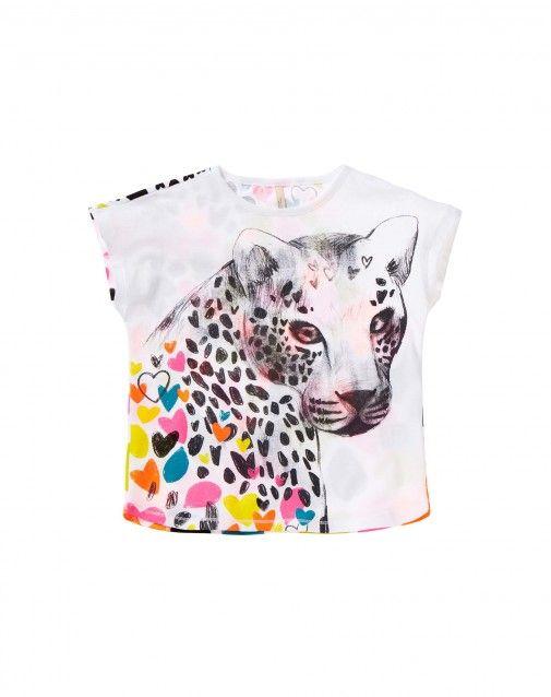 652e1dddf Compra Camiseta con estampado flúor Blanco de Camisetas (Cortas) en ...