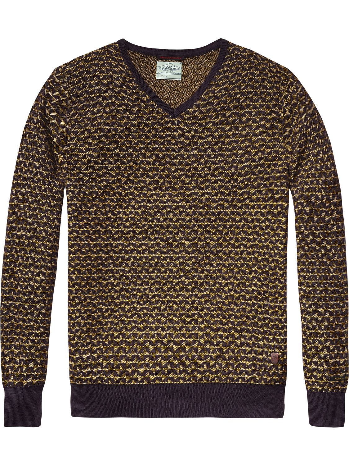 Jacquard-Pullover in Retro-Optik | Pullover | Herrenbekleidung von Scotch & Soda