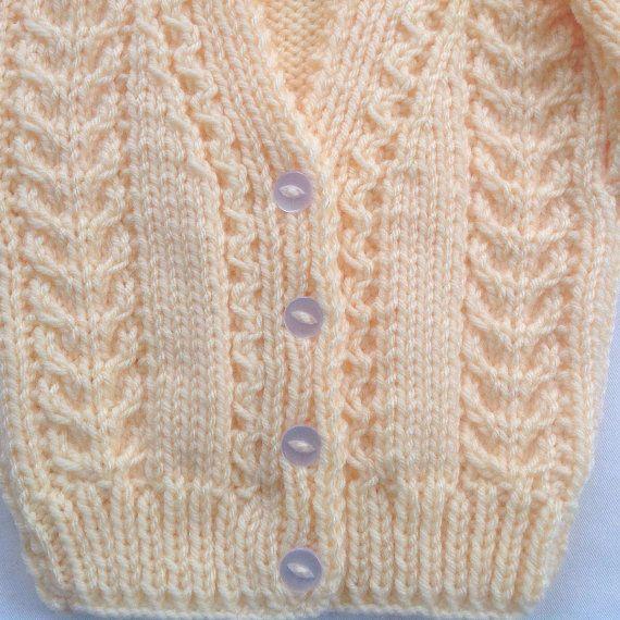 Baby Strickjacke 6 bis 12 Monaten Baby-Dusche-Geschenk | Strick ...