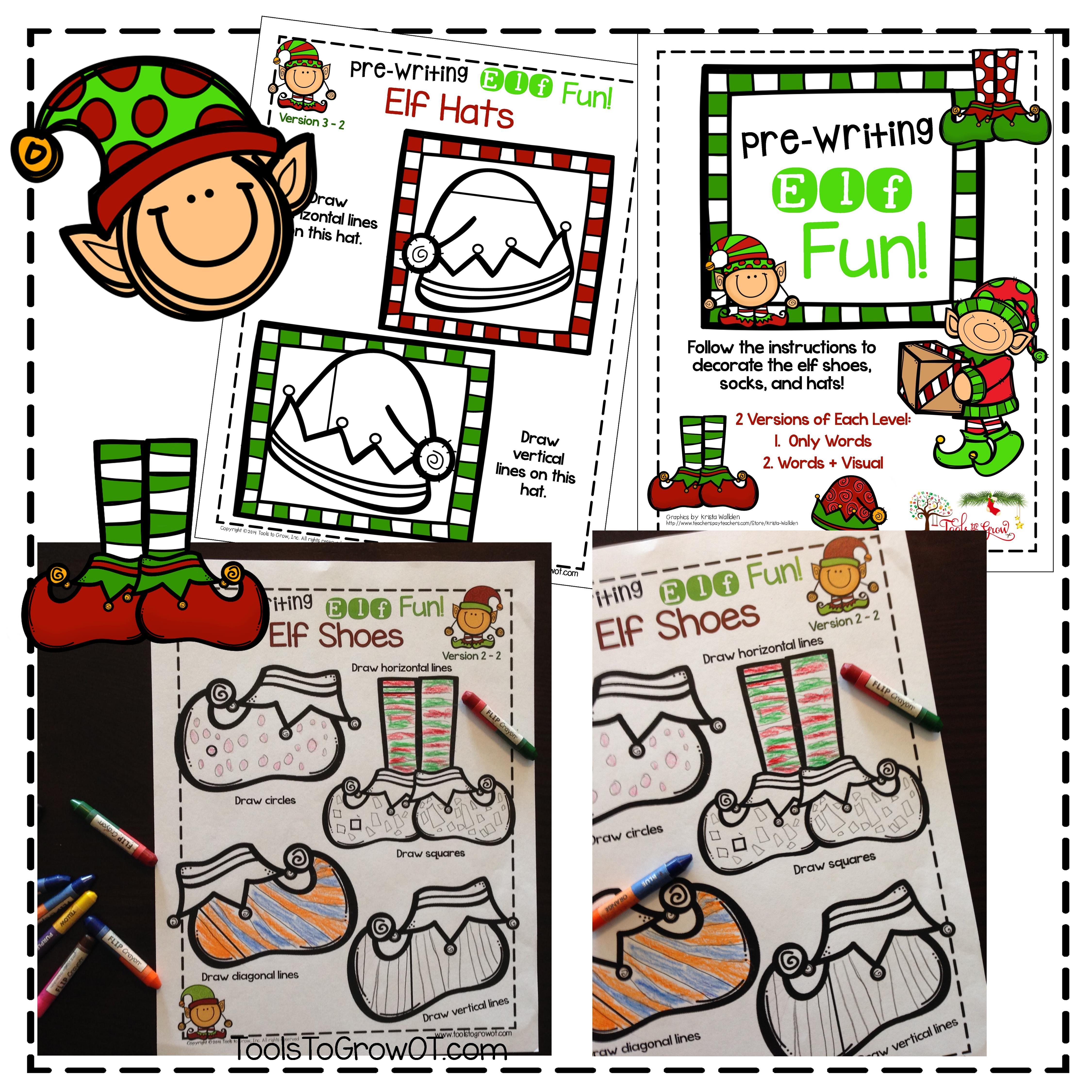 Handwriting Christmas Activities Pre Writing And Stroke