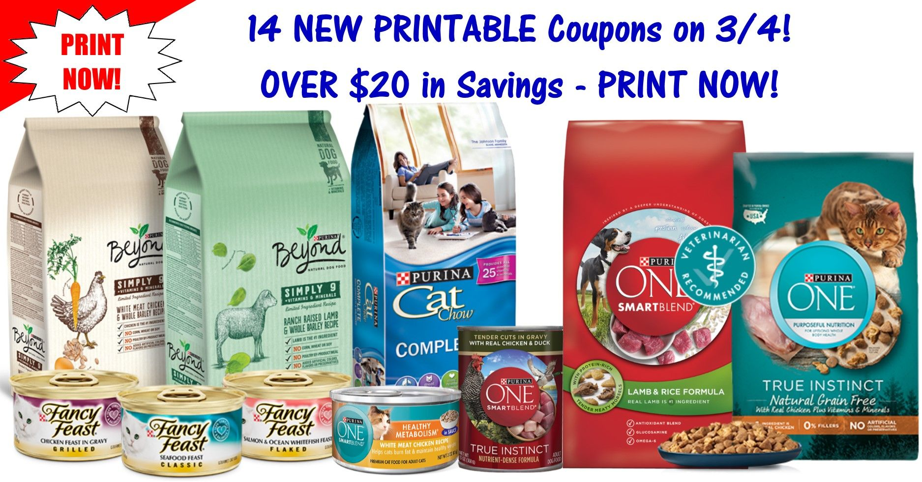 pet product printable coupons ~ 14 new high value coupons