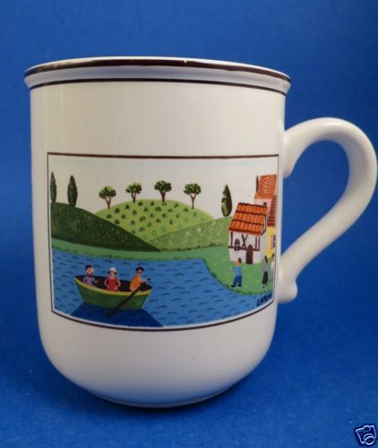 Villeroy Boch Coffee Mug Cup Design Naif Luxembourg Men Rowing In