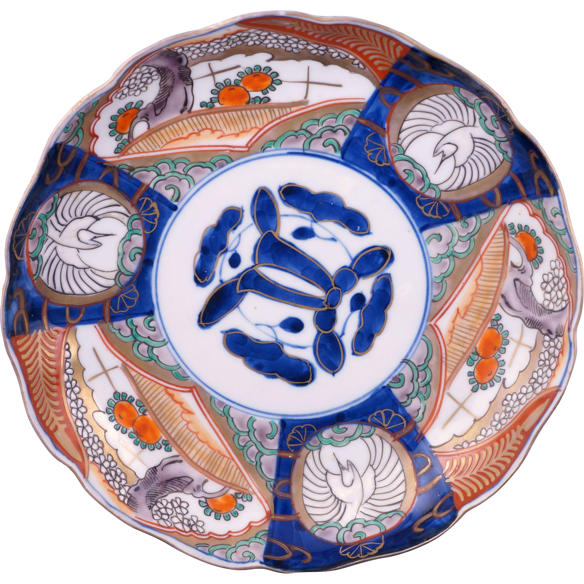 Japanese Antique colorful porcelain Imari plate with garden scenes Meiji Period from Bear \u0026 Raven on  sc 1 st  Pinterest & Japanese Antique colorful porcelain Imari plate with garden scenes ...