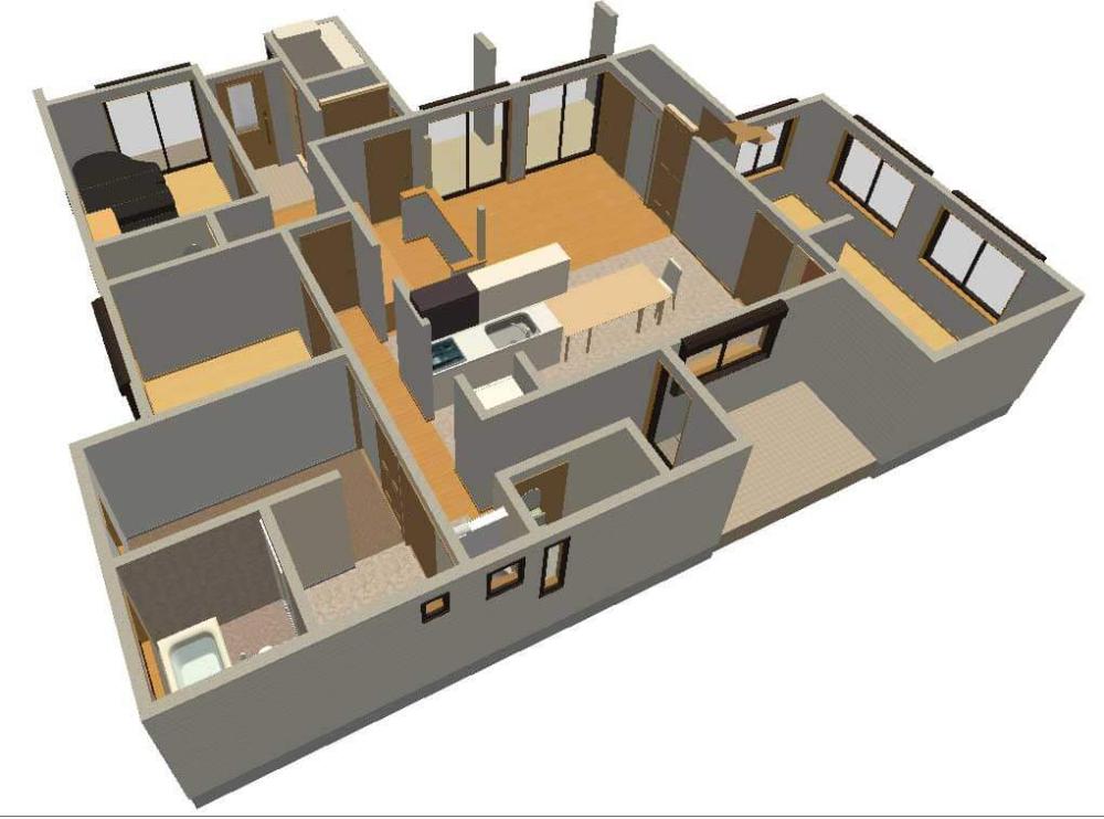 パース図を作ってみた 2020 平面図 パース 県民共済住宅