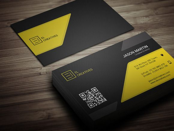 Check Out Creative Yellow Business Card By Bouncy On Market