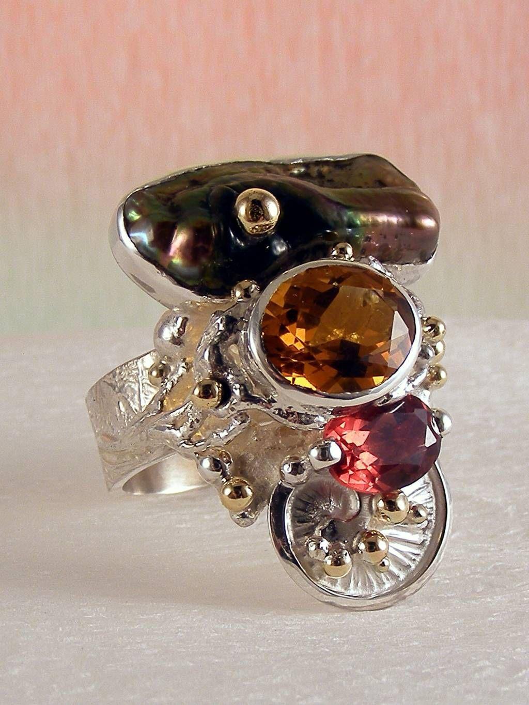 gregory pyra piro #smykkekunst sterling #sølv og #guld med #ædelsten