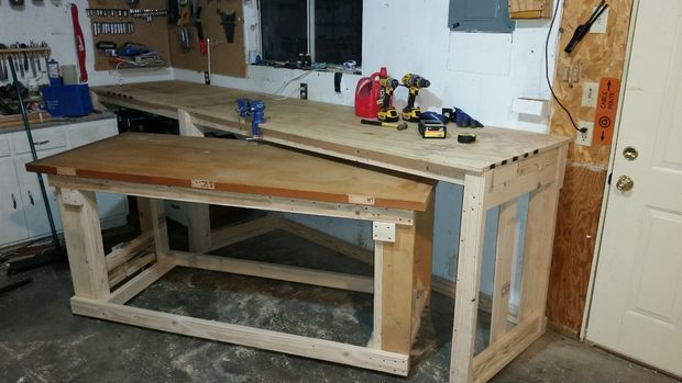 2x4 Work Bench With Nested Rolling Assembly Table Home