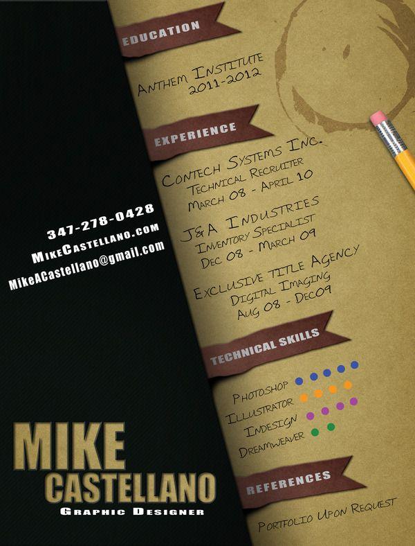 Creative resume Résumés Pinterest Design resume, Resume - technical illustrator resume