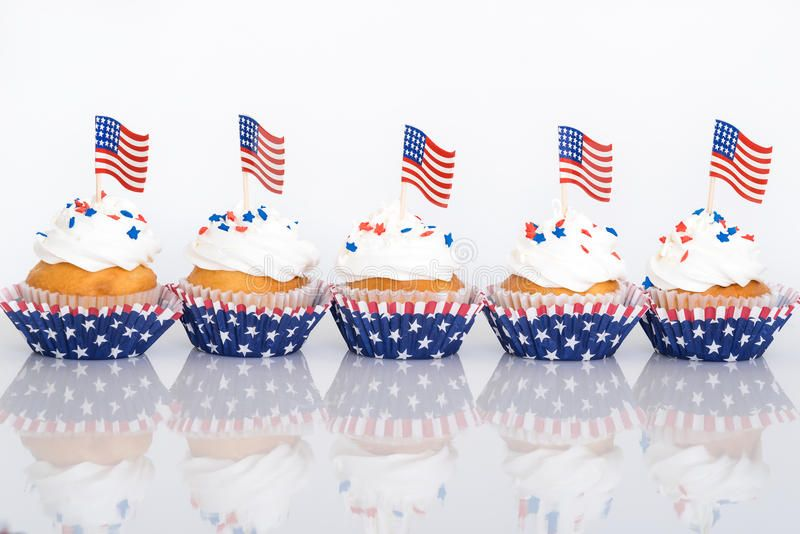 159509f9a6f Download Patriotic Cupcakes With American Flags Stock Image - Image of  sprinkles