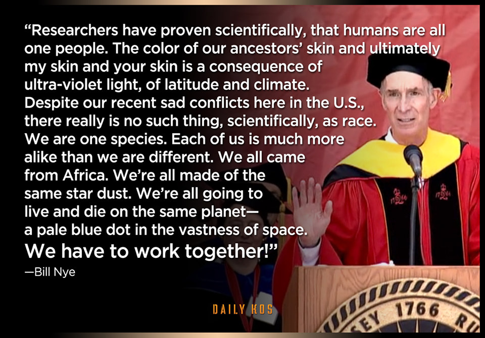 Bill Nye on race - important as we look at cultures and ethnic groups in geography