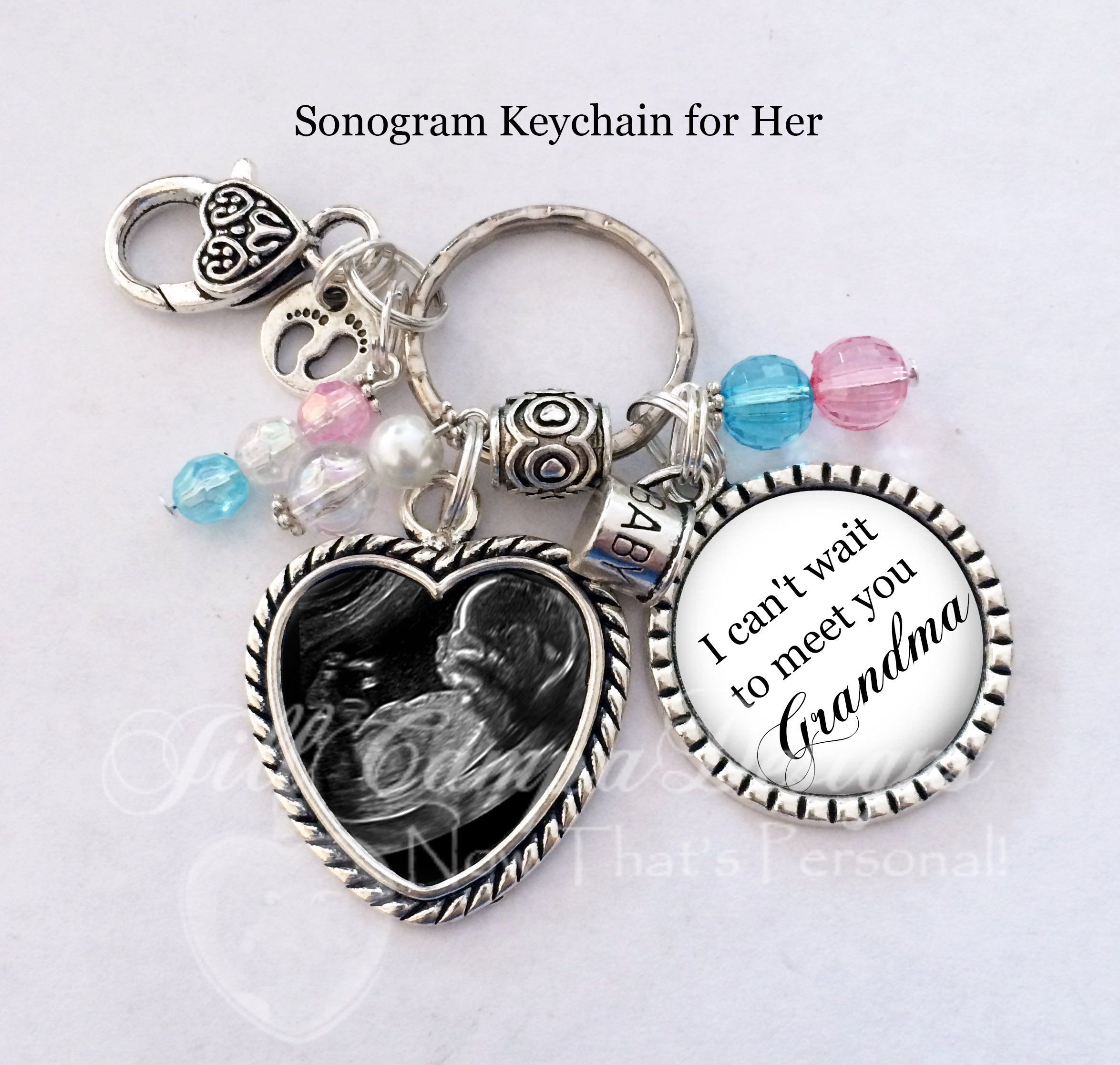 Sonogram Keychain  for her