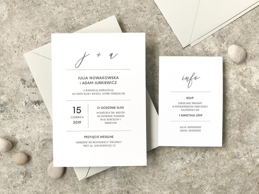 Nowoczesne Minimum Zaproszenia Slubne Simple Grey Wedding Invitation Grey Wedding Invitations Wedding Invitations Romantic Wedding Mood Board