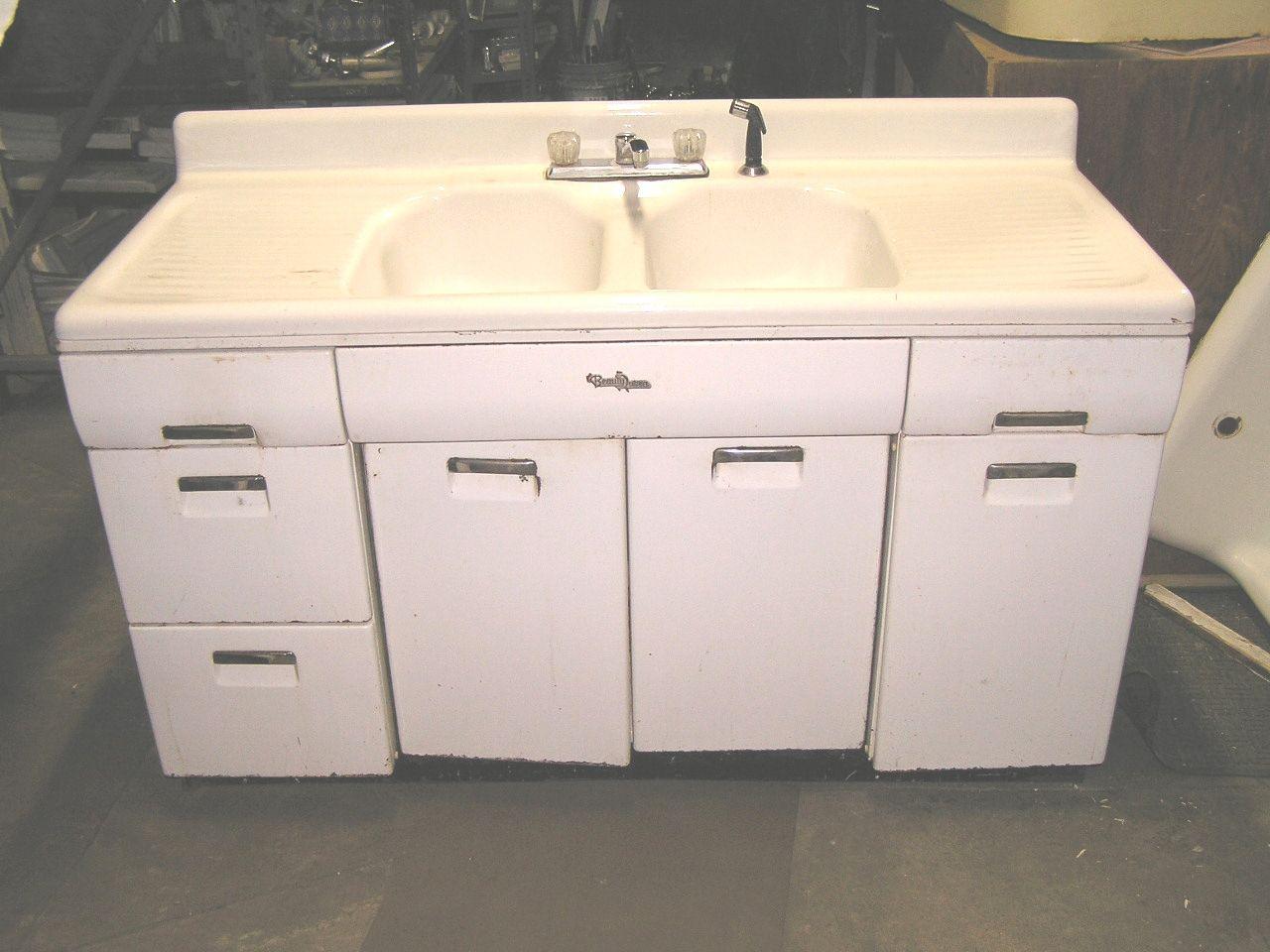Vintage Metal Kitchen Sink Base Cabinet | http ...