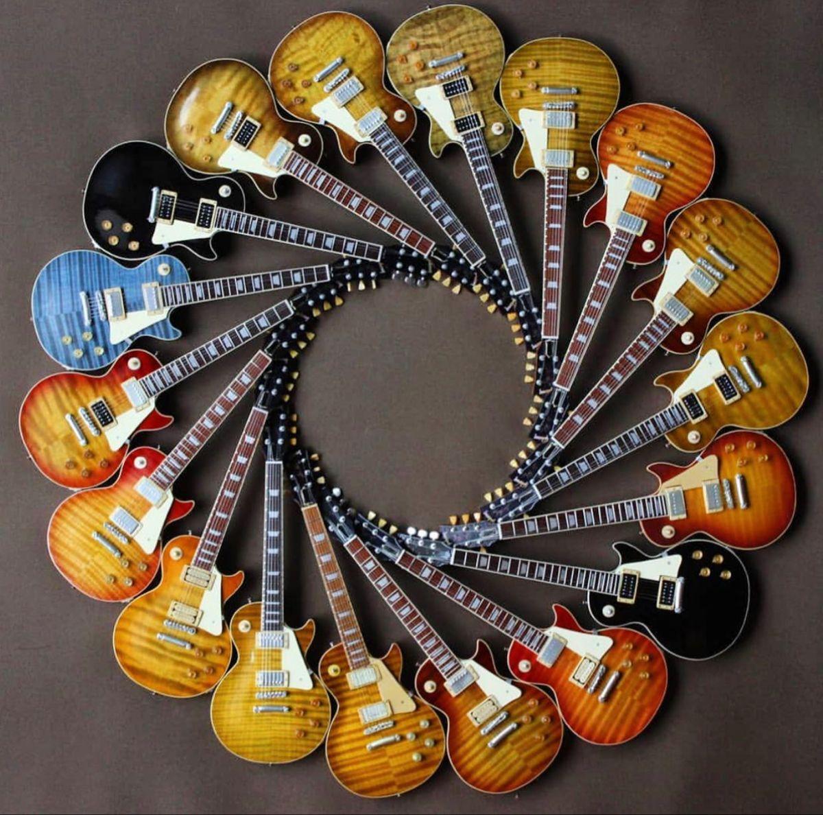 Les Paul Circle Of Life Les Paul Guitars Gibson Guitars Beautiful Guitars