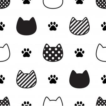 Google Ergebnis Fur Https Img Freepik Com Free Vector Cat Seamless Pattern Kitten Head Paw Footprint Illustra Katzenpfoten Illustration Katze Katzenzeichnung