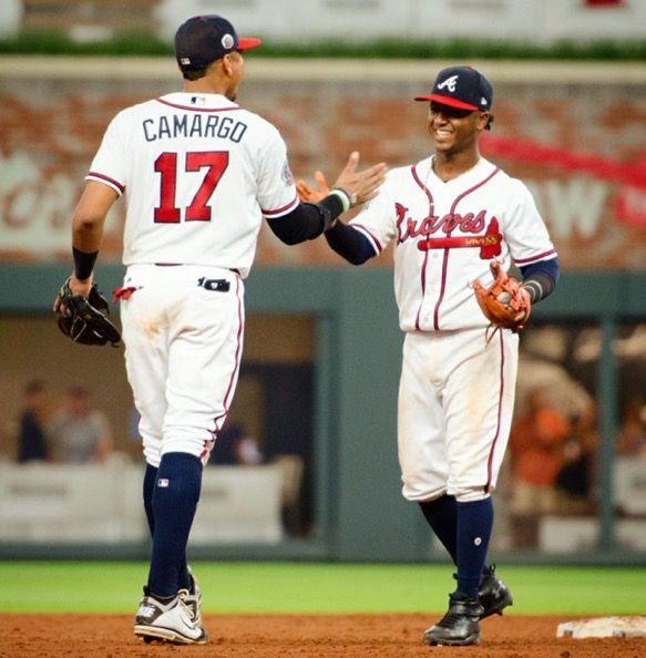 Johan Camargo And Ozzie Albies Atlanta Braves Braves Atlanta