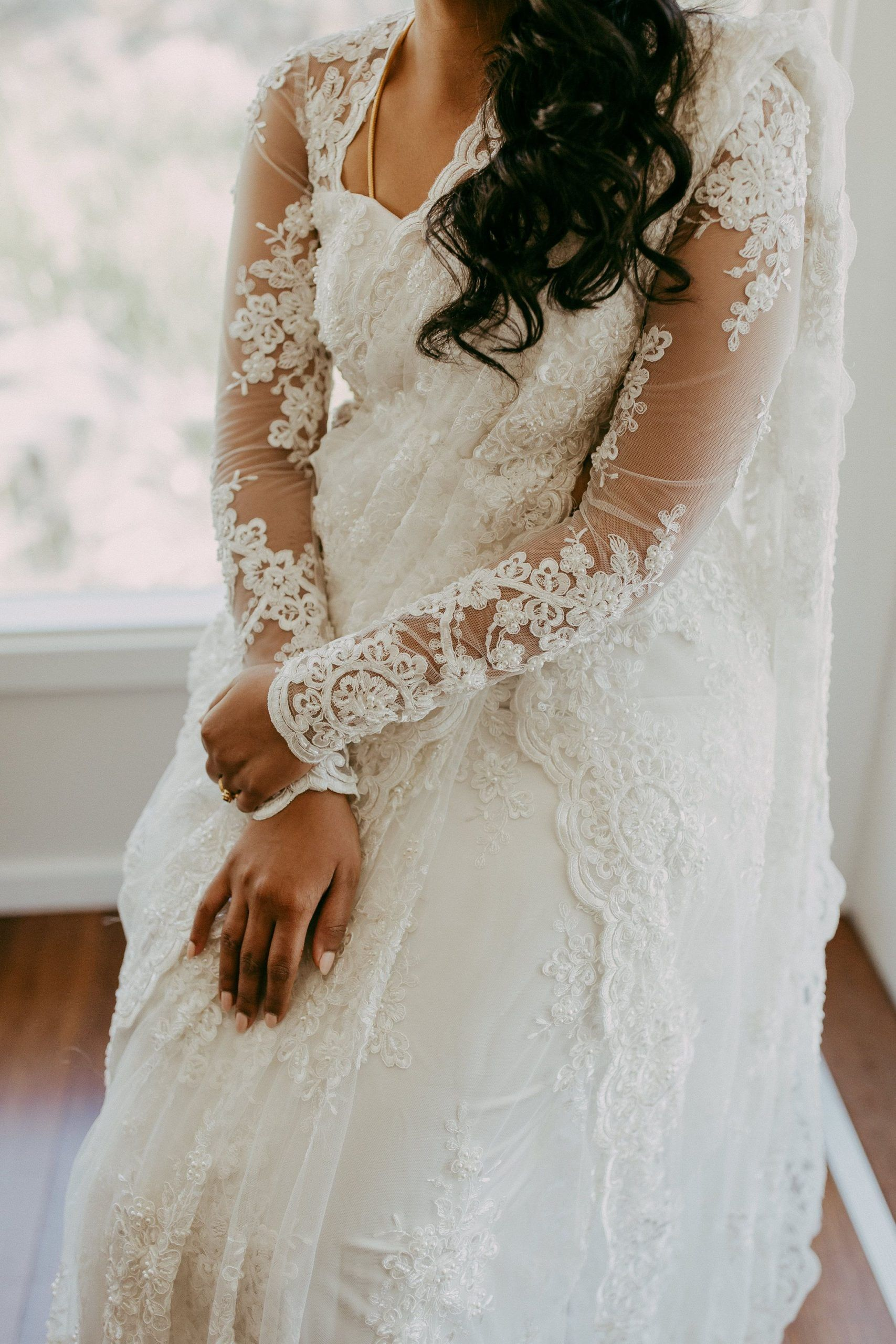 24++ White lace saree for wedding info