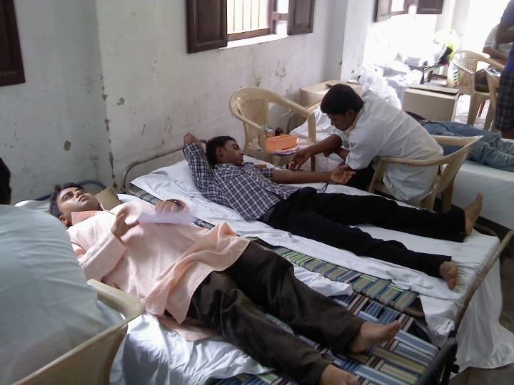 Proper care and rest was ensured during the entire blood donation process