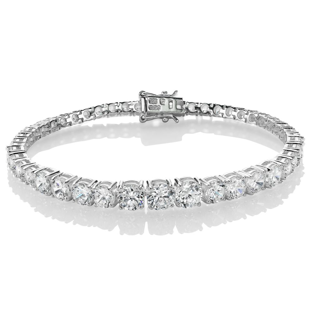 Beaverbrooks Silver Cubic Zirconia Bracelet Party Jewellery
