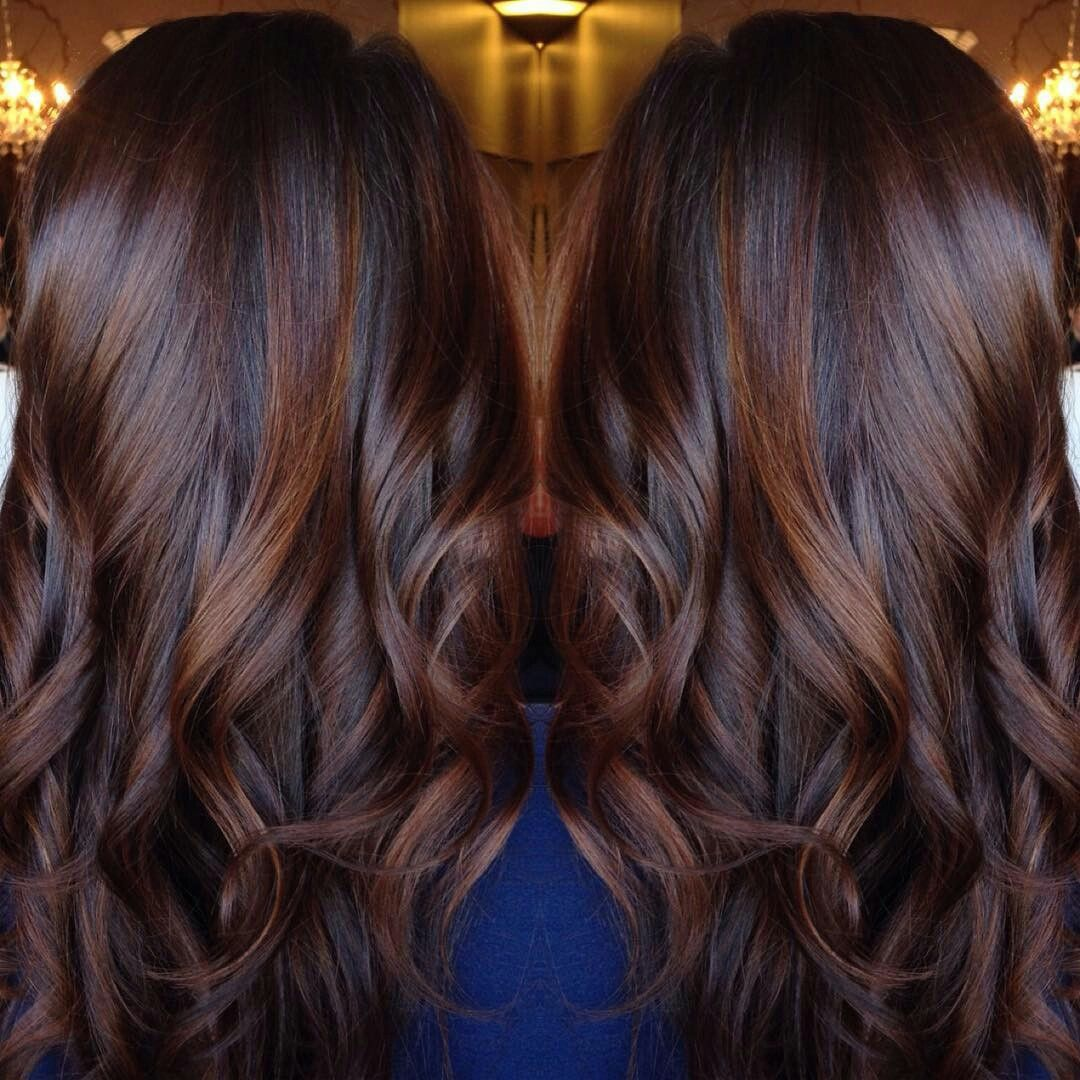 Chocolate Cinnamon Baylage Hair Styles Brunette Hair Color Long Hair Styles
