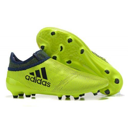 Nuevos Adidas X 17+ PureChaos FG AG Botas De Futbol Verde Negro 5d99b405ca474