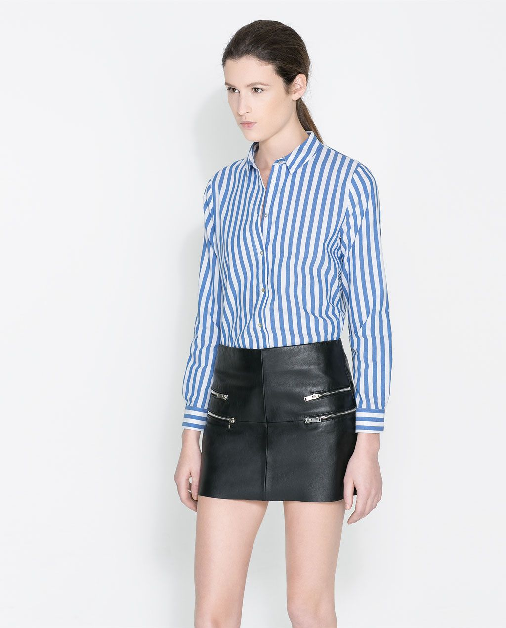 93d4cc00 Image 1 of STRIPED SHIRT from Zara | WANTS | Striped long sleeve ...