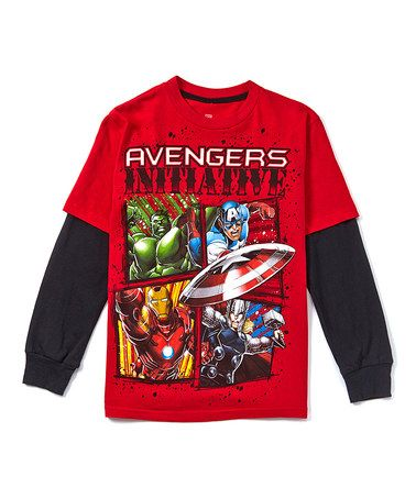 Love this Red 'Avengers Initiative' Layered Tee - Boys on #zulily! #zulilyfinds