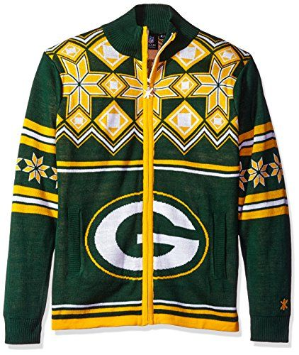 low priced acb5a 91c54 GREEN BAY PACKERS SPLIT LOGO UGLY SWEATER JACKET EXTRA LARGE ...