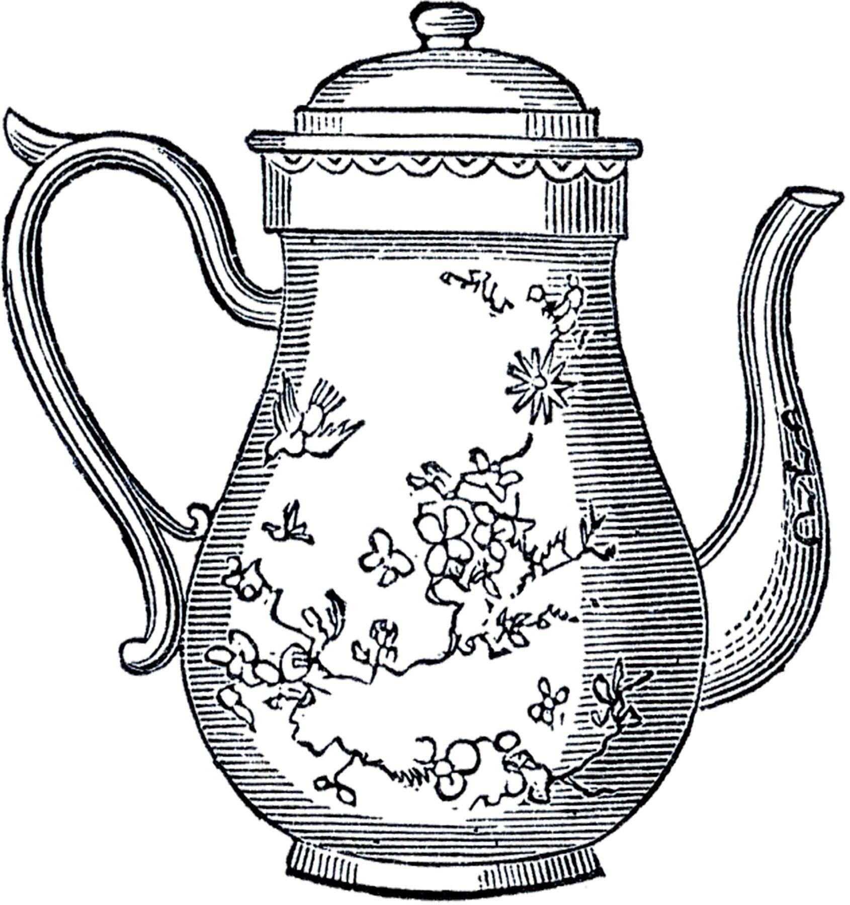 10 Best Teapot Clipart Tea Pots Vintage Tea Pots Teapot Drawing