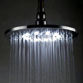 Chrom 20cmx20cm Led Duschkopf Ceiling Lights Faucet Lamp