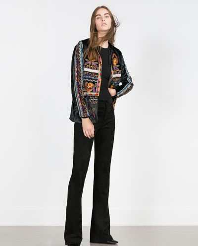 Chaquetas Zara Woman Embroidered Zara JacketStyle 92IEDH