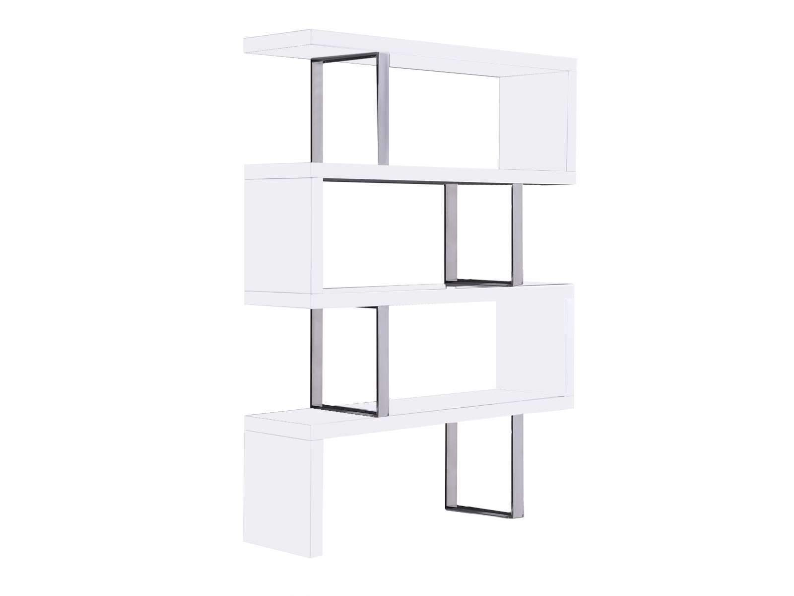 High Gloss White Lacquer Bookcase