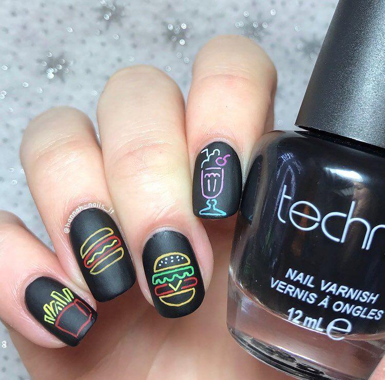Neon Light Nail Art Trendy Nails Hair And Cosmetics Pinterest