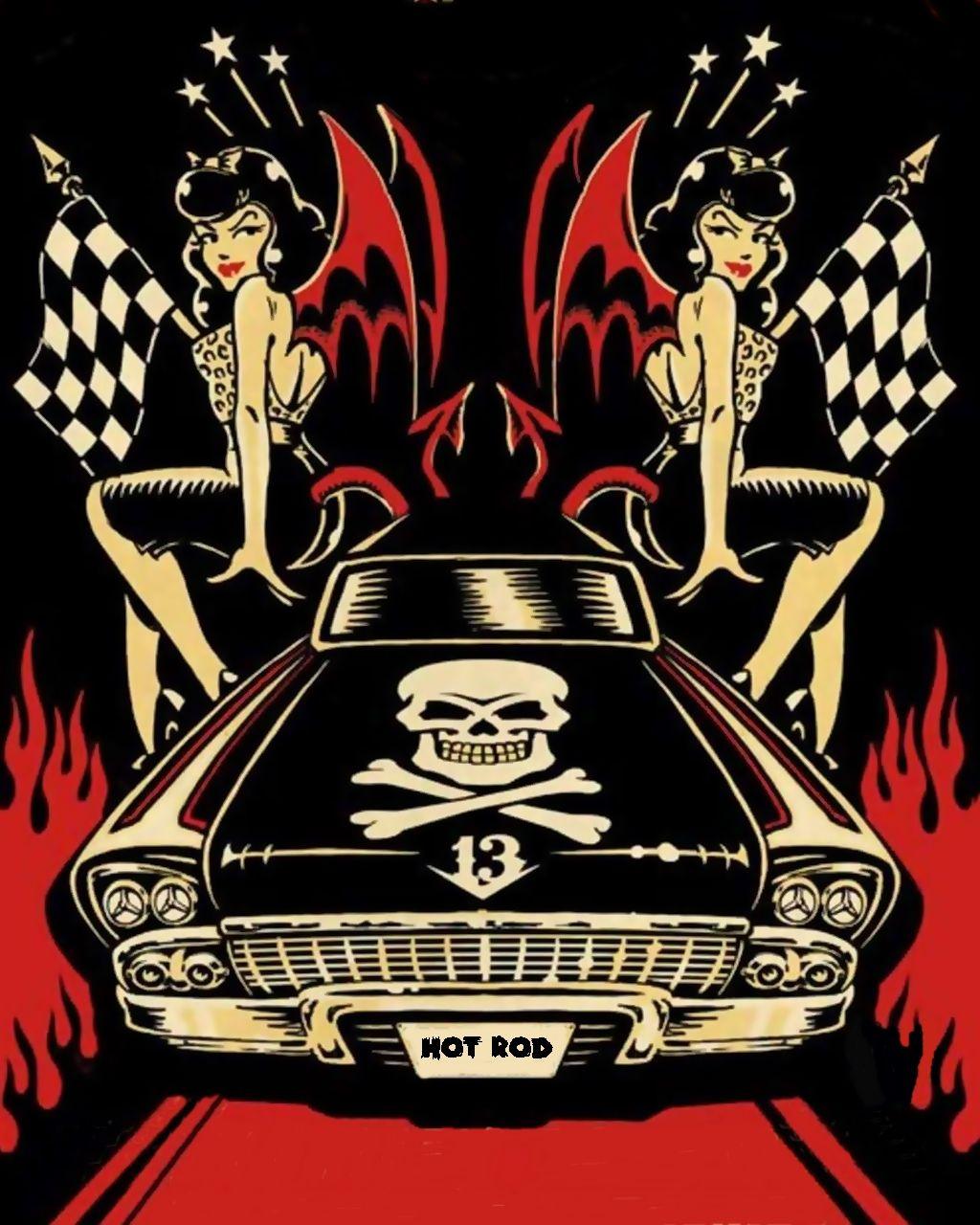 poster Art hot rod rockabilly by pave65.deviantart.com on ...