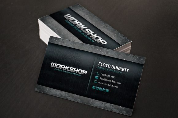 Metal business card template business cards card templates and metal business card template creativework247 reheart Image collections