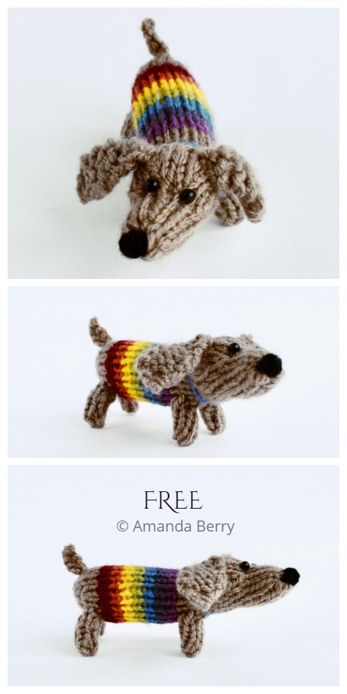 Amigurumi Sausage Dog Free Knitting Patterns - Knitting ...