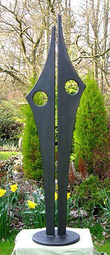 Garden sculpture and abstract art for outside metal art for Gartendeko schmiedeeisen