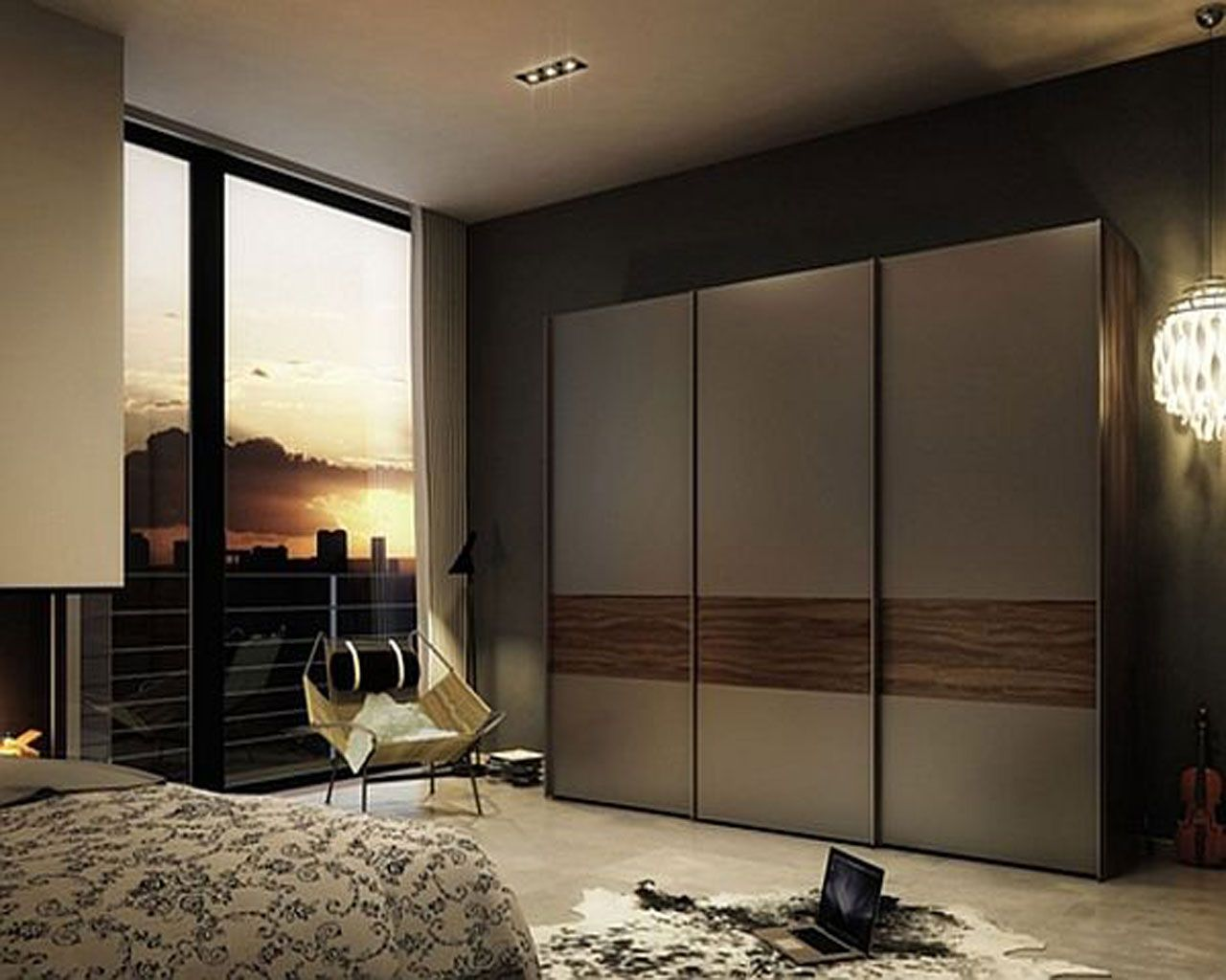 Home Decor Sliding Doors: Fitted Sliding Wardrobe Doors For Bedroom Furniture