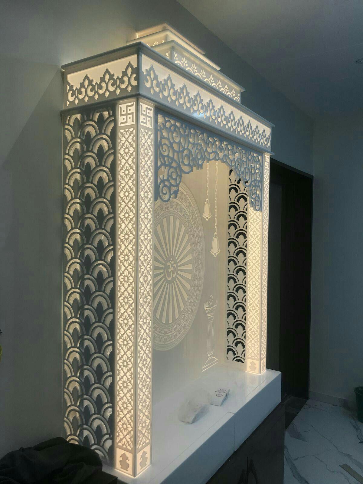 Pooja Room Designs For Flats: Pin By Abhishek Mishra On Cnc Design