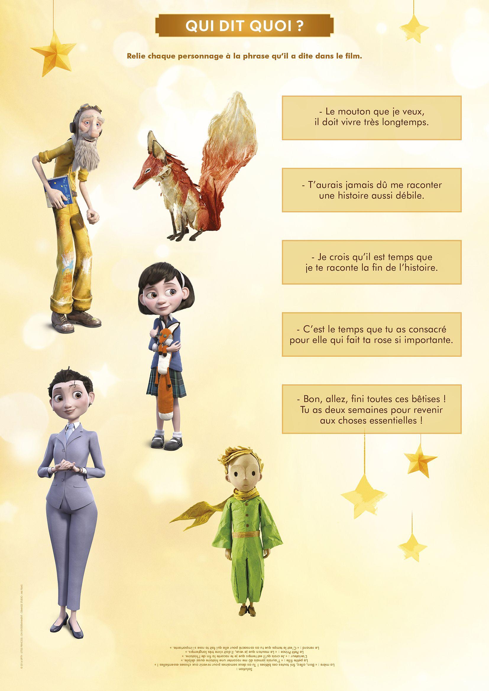 Le Petit Prince : Qui dit-quoi ?   Pinterest