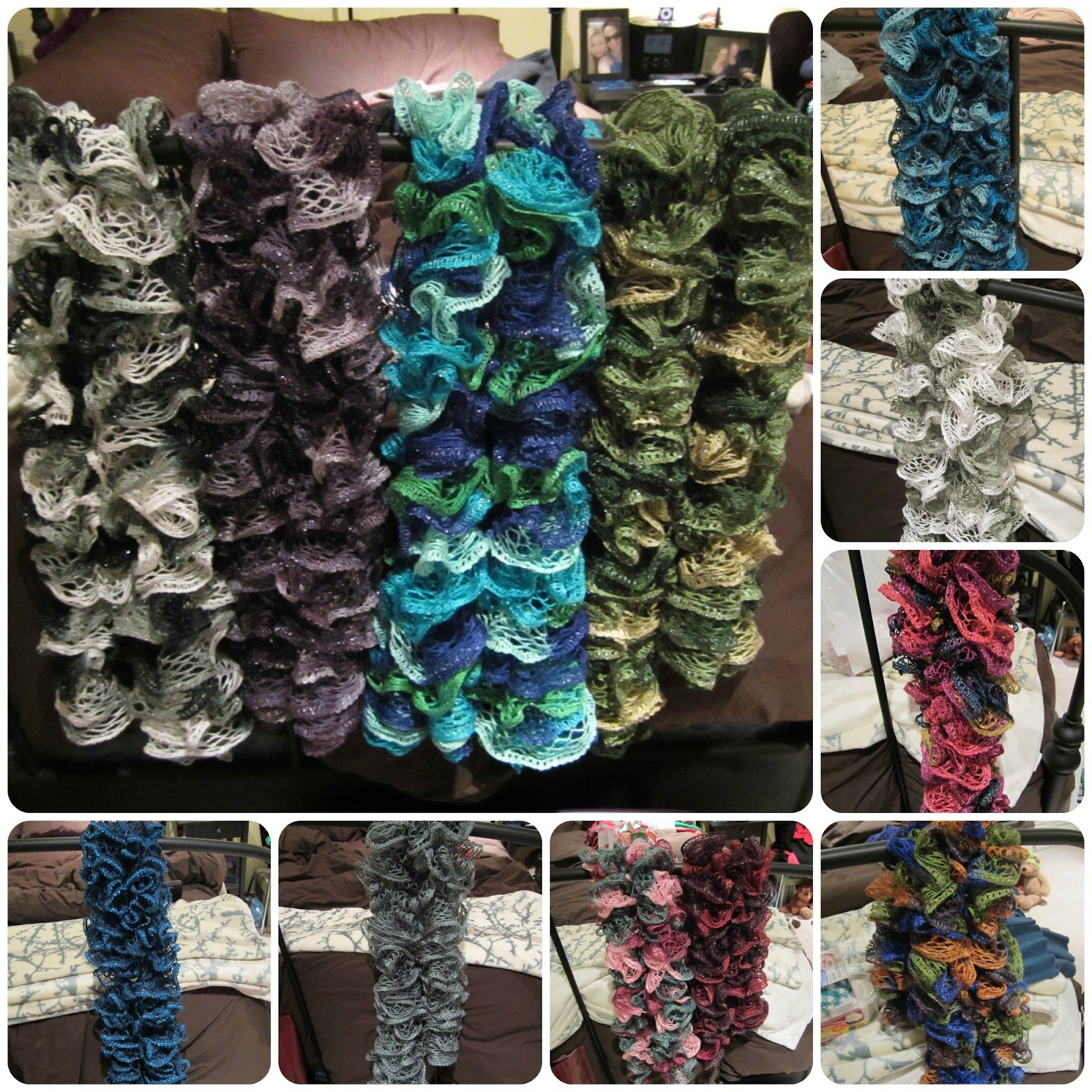 Ruffle scarves by red heart sashay yarn it only takes one skein ruffle scarves by red heart sashay yarn it only takes one skein of yarn per bankloansurffo Images