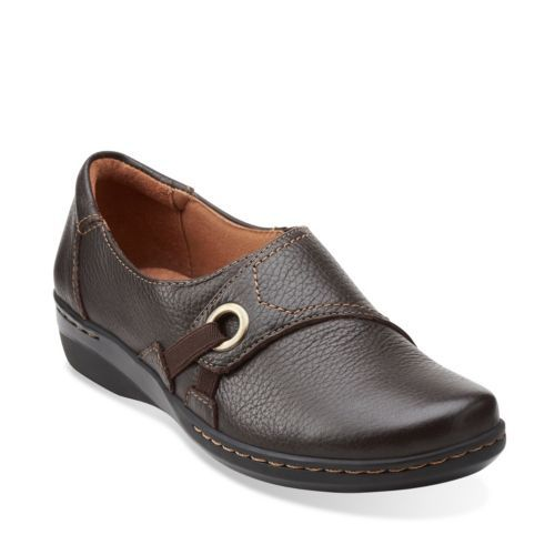 Leather · Evianna Boa Brown Tumbled Leather - Clarks Womens Shoes ...
