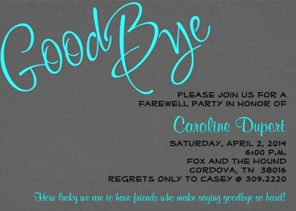 50 Beautiful Farewell Party Invitation Template Free In 2020