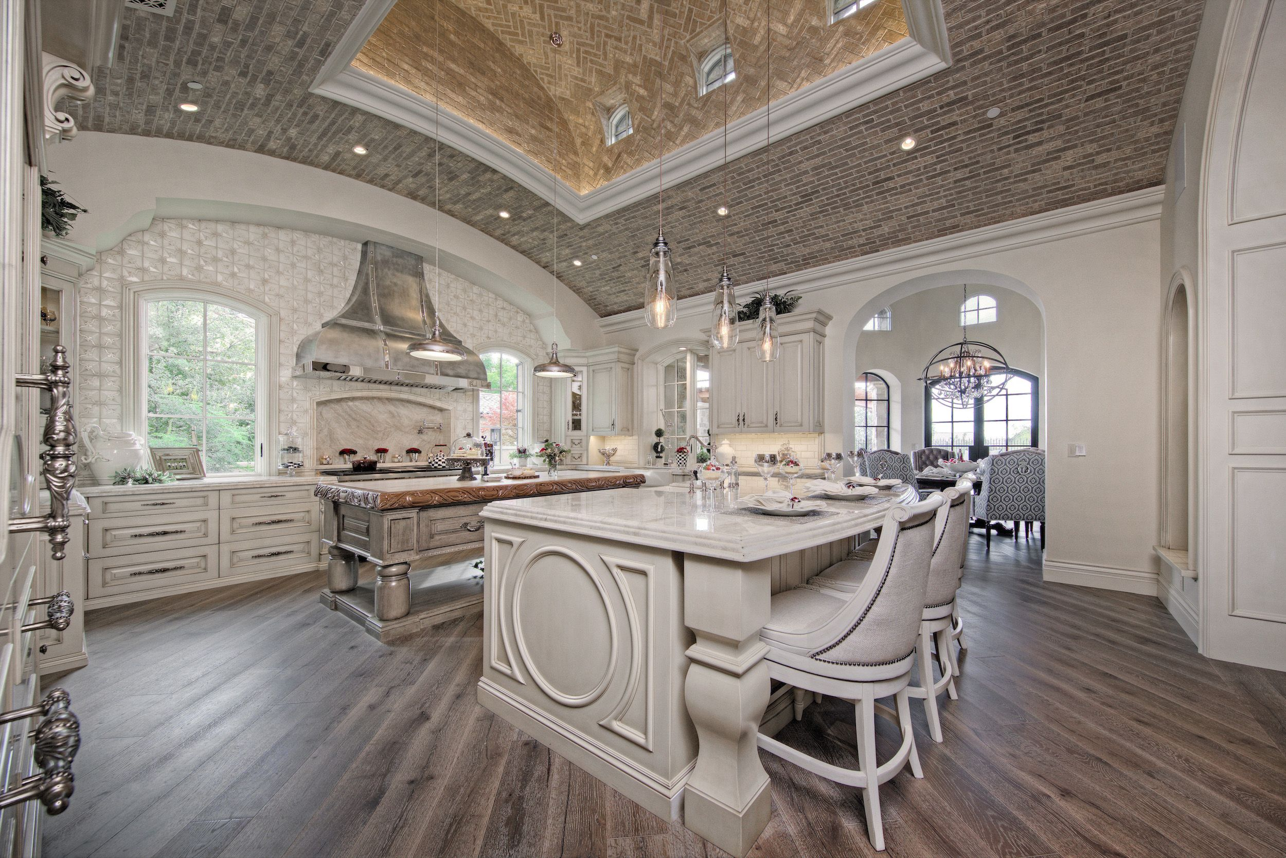 luxury french villa custom home kitchen wood flooring white interior luxury kitchens mansion on kitchen interior luxury id=48671